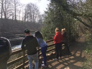 group photo Aysgarth falls