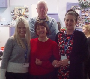 special thanks to Maggie Jones for making a surprise visit and who is always greatly welcomed at each Year's Christmas party by all! Thank You Maggie for being part of Progress Harrogate. Special thanks also goes to Chris who continues to offer support with hire of the venue at St Georges Community Centre.